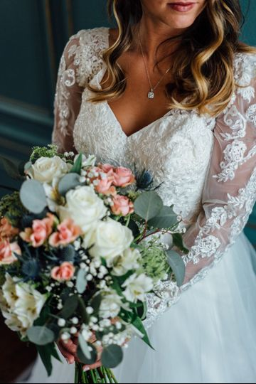 The bride with flowers
