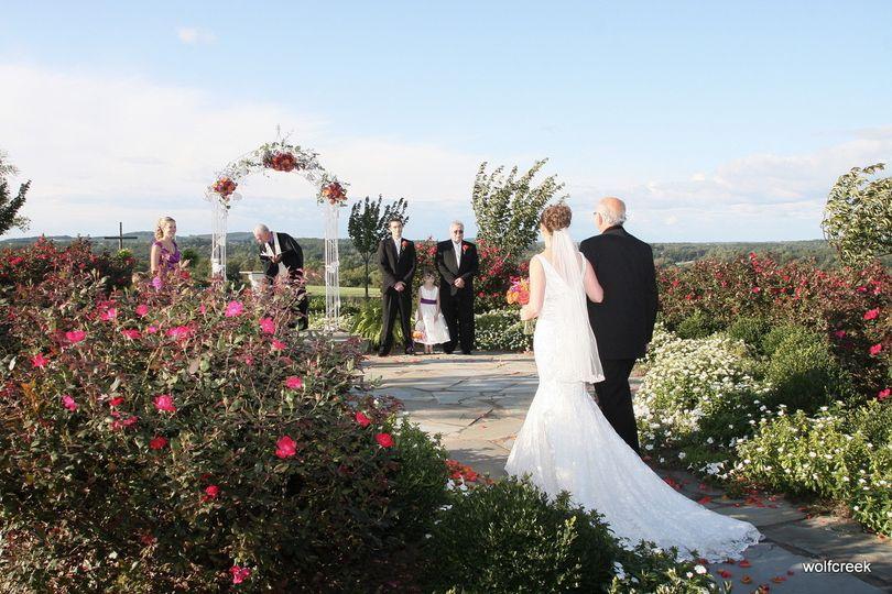 Bride with her escort