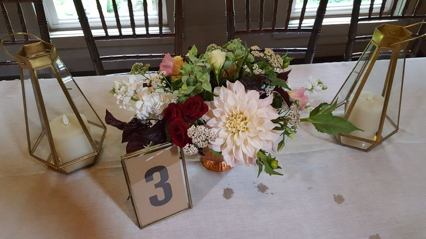 Sample table centerpiece