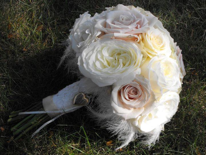 Tmx 1341585396190 Whiteroseandfeatherbouquet Kingston, New York wedding florist