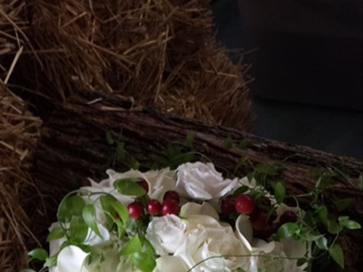 Tmx 1395847880570 White And Burgundy Berry Bouque Kingston, New York wedding florist