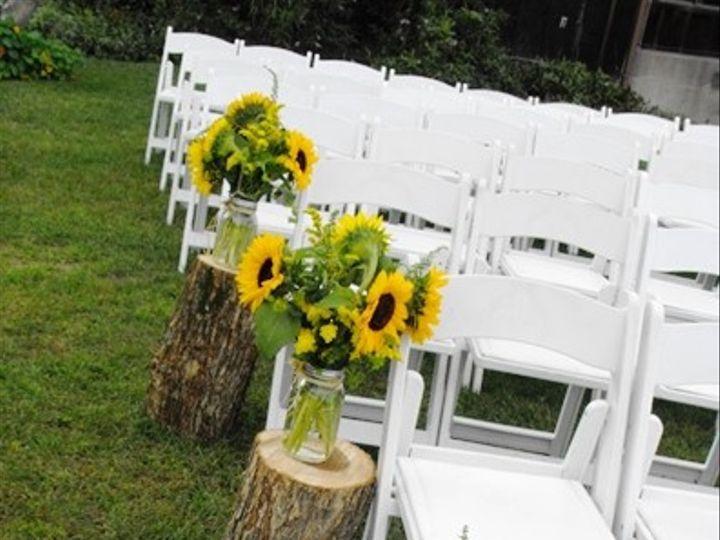 Tmx 1395849173861 Ceremony Mason Jar Sunflowers With Logs Lr Kingston, New York wedding florist