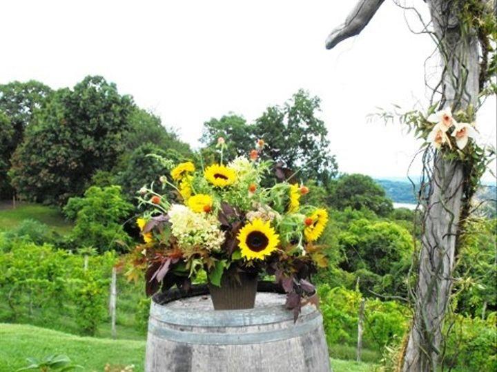 Tmx 1395849203286 Rustic Sunflowers On Wine Barrels Lr Kingston, New York wedding florist