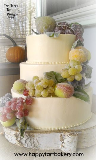 800x800 1365609601651 buttercream wedding cake with frosted fall fruit