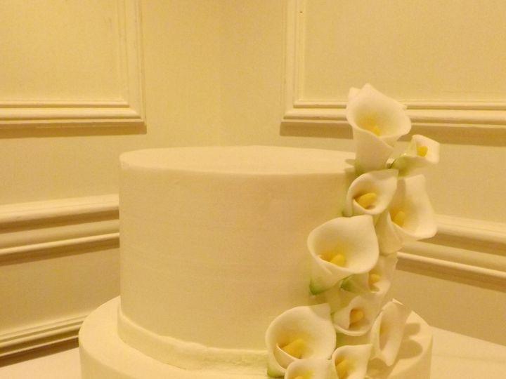 Tmx 1391456063515 Calla Lilly Wedding Cak Falls Church, VA wedding cake