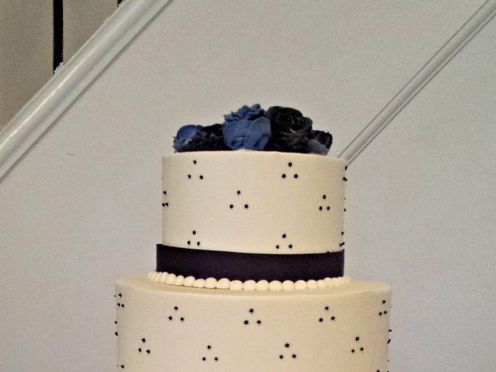 Tmx 1391456181969 Navy Triple Dot Wedding Cak Falls Church, VA wedding cake