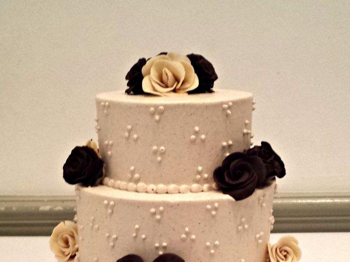 Tmx 1404062108491 Buttercream Wedding Cake With Modeling Chocolate R Falls Church, VA wedding cake