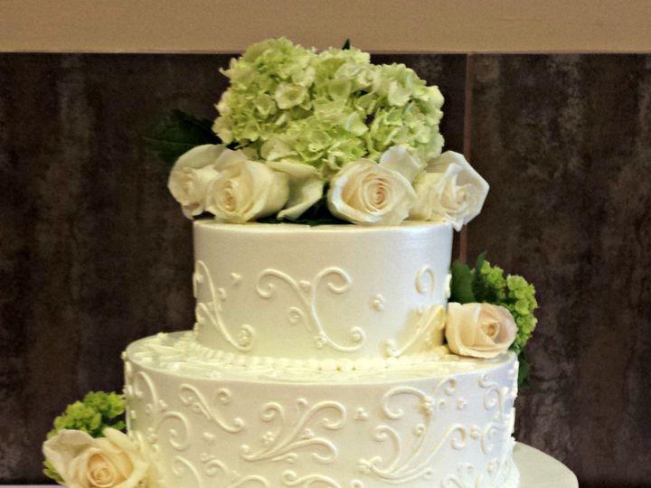 Tmx 1404062159336 Buttercream Wedding Cake With Scrollwork And Green Falls Church, VA wedding cake