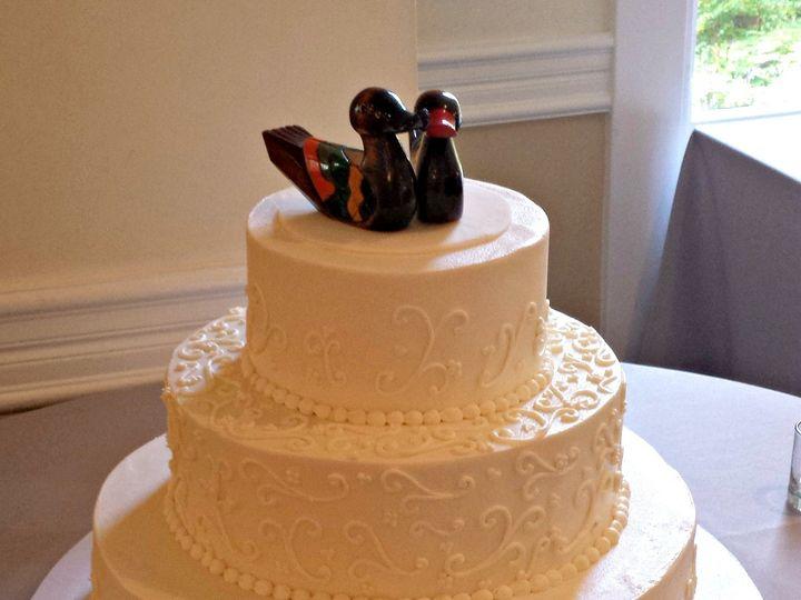 Tmx 1404062170817 Buttercream Wedding Cake With Scrollwork And Korea Falls Church, VA wedding cake