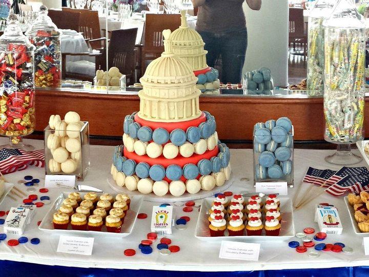Tmx 1404062197479 Dessert Table Red White And Blue Wedding Falls Church, VA wedding cake