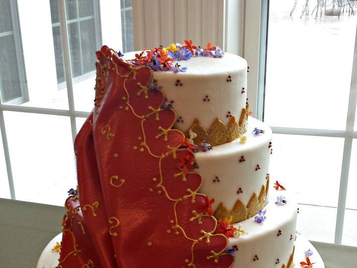 Tmx 1404062240155 Fondant Sari Cake Falls Church, VA wedding cake