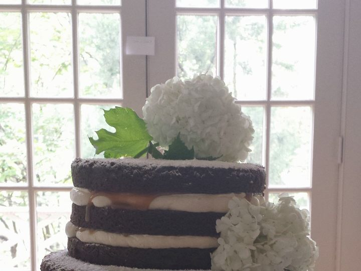 Tmx 1404062298852 Naked Wedding Cake With Hydrangeas Falls Church, VA wedding cake