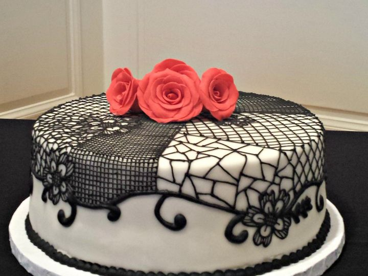 Tmx 1404062329763 Single Tiered Flamenco Cake Falls Church, VA wedding cake