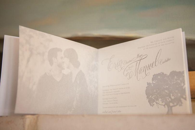 Letterpress Invitation Booklet