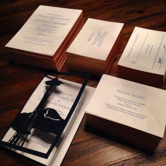 Letterpress & Laser Cut