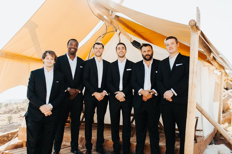 Groomsmen at Under Cavas, UT