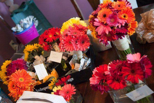 Multi-Colored Gerbera Daisy Bouquets