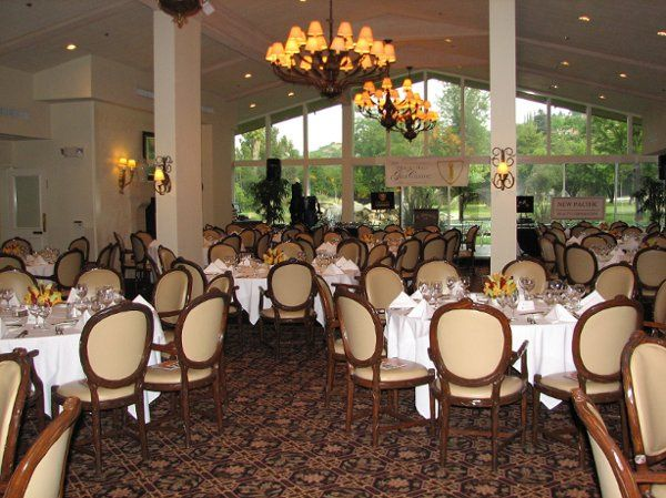 Look how beautiful the whole ballroom looks with our fruit creations as centerpieces!