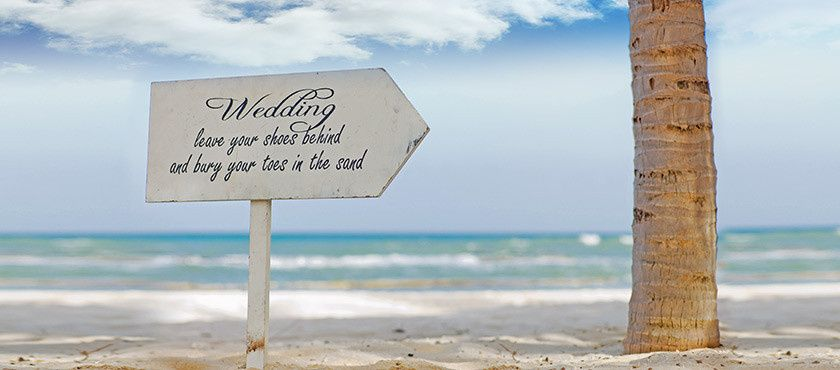 Wedding signboard