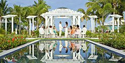 Beachfront resort wedding