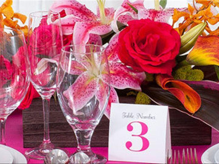 Tmx 1414458575919 Carolyns Hot Pink Wedding Centerpiece Setting Beac Binghamton, NY wedding travel