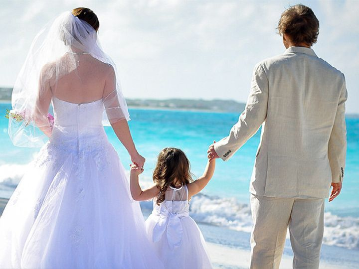 Tmx 1414458838658 Carolyns Bridal Couple With Daughter On Beach Beac Binghamton, NY wedding travel