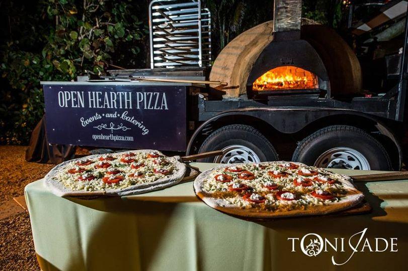 Oven setup and pizzas