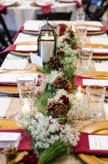 Vines over the table runners