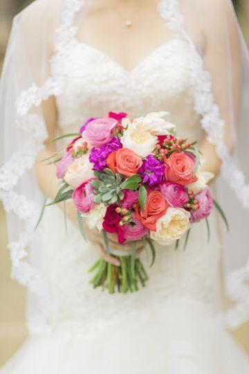 Coral & Fuchsia Bouquet