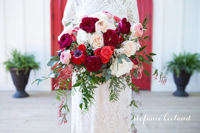 Red & Blush Rose Bouquet