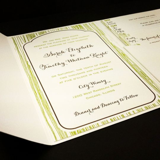 Wedding Invitation with Envelopment by Mi-Te