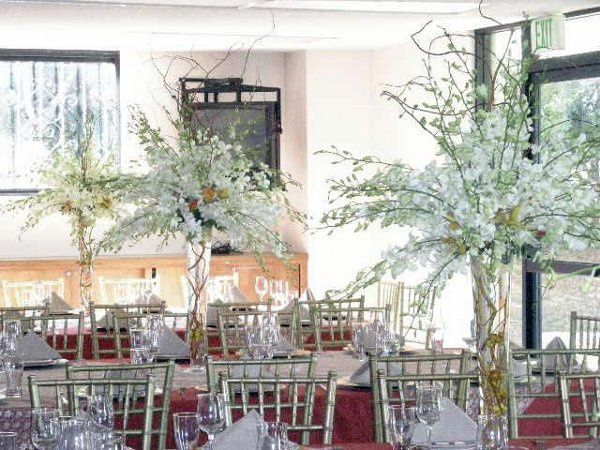 These tall, elegant centerpieces are very popular.