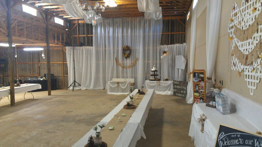 Another barn wedding reception, You can see some of our gear in the back left corner.The ceremony...