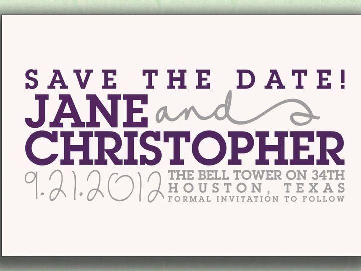 Tmx 1370023826347 001nikkiroskodesignetsystdlist Austin, TX wedding invitation
