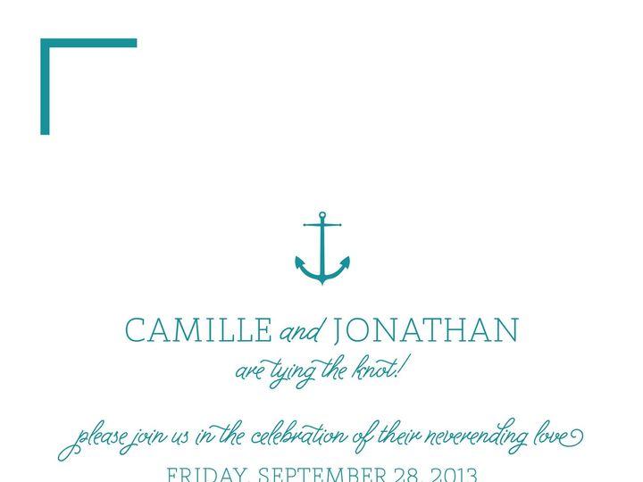 Tmx 1370023939882 Wedding Invitation2teal Austin, TX wedding invitation