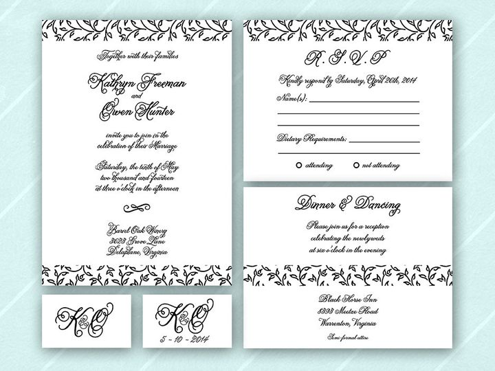 Tmx 1375443369031 Nikkiroskoetsy Wedding Invite Classiclisting Austin, TX wedding invitation
