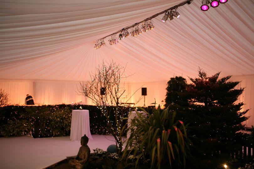 Wedding reception Marquee