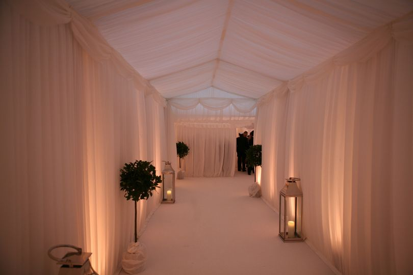 Entrance to marquee