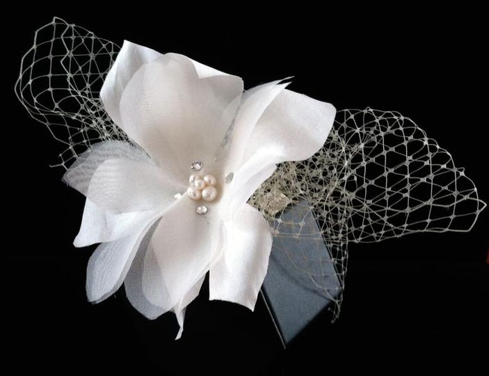 angie bridal hair flower