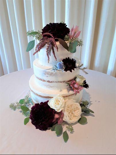 Moody Burgundy Cake