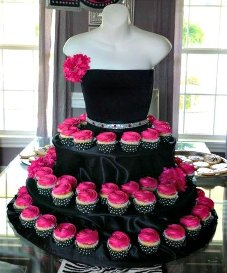 The Couture Cupcake Stand, available in 4 colors. Custom orders welcome in your bridal party color...