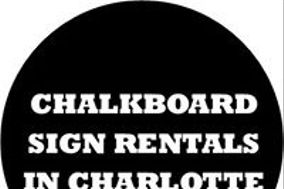 Chalkboard Sign Rentals in Charlotte NC