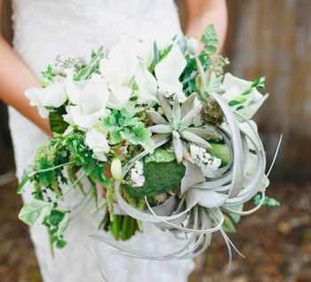 Soft green bouquet