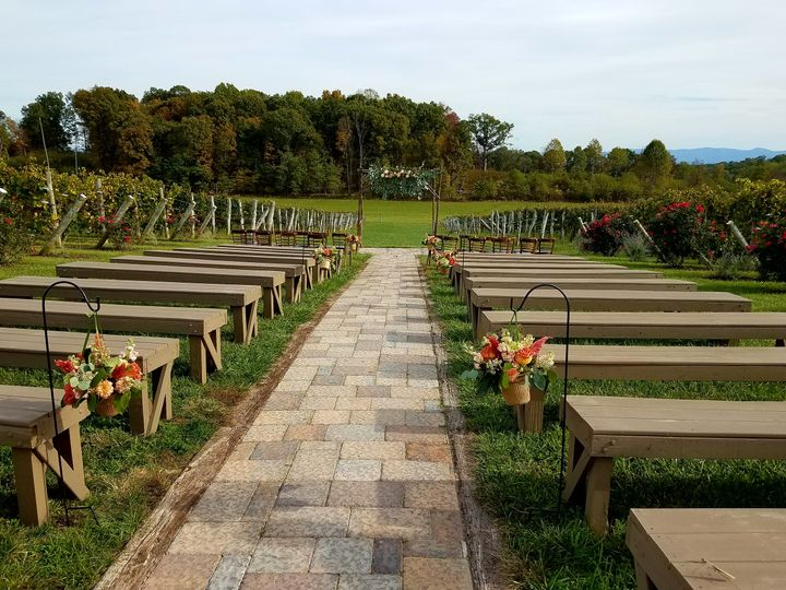 Walk down the aisle of Vines