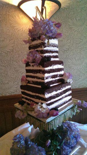 Square striped cake