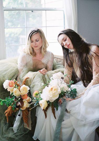 Intimate bridal prep moments