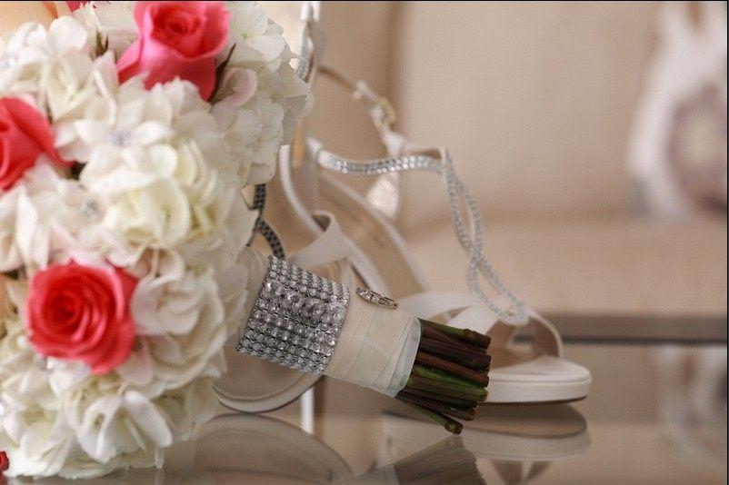 Crystal Embellished Bridal Bouquet