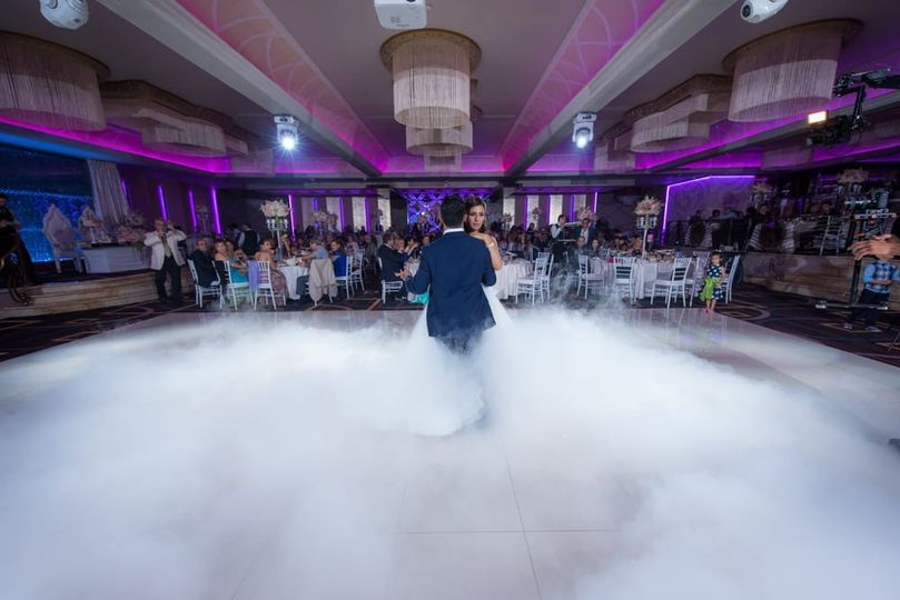 Wedding Dance with Low Fog