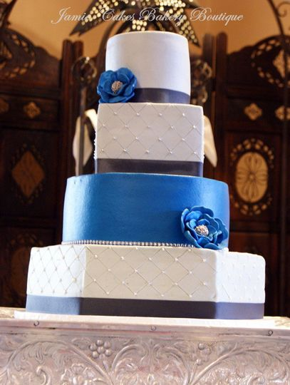 Blue and white combination