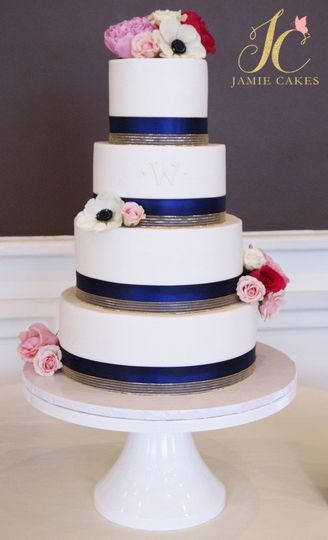 Blue striped design